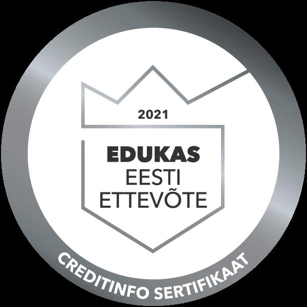 """Tunnustatud sertifikaadiga """"Edukas Eesti Ettevõte"""" 2021"""